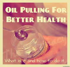 "Oil Pulling: What Is It & How To Do It   Oil pulling is the practice of taking 1 tablespoon of a cold-pressed vegetable oil (such as sesame or sunflower seed oil) and swishing it in your mouth for about 15-20 minutes. This is done soon after waking, before eating or brushing one's teeth — and it has the effect of ""pulling"" bacteria, parasites, mucous and other toxins from your body through your saliva.  Oil pulling has its roots in Ayurveda, the Hindu art of healing, which asserts that the…"