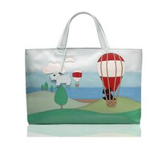 Radley Signature Up Up and Away - 2005 This Radley signature picture bag features Radley in a hot air baloon flying over the hills. Radley Bags, Penny Black Stamps, Air Balloon, Balloons, Luxury Sunglasses, Medium Tote, Grab Bags, Large Bags, Bags