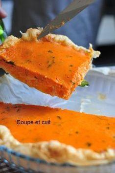 Tarte à la crème de poivron et au fromage de brebis