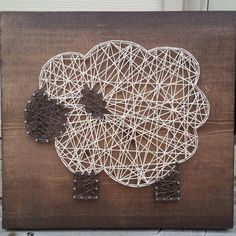 Made to Order String Art Sign, Lamb String Art, Nail and String Art, Custom Lamb String Art, Lamb Nursery Decor, Sheep Decor
