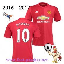 Premier: Maillot Football Manchester United Rouge (ROONEY 10) Domicile 2016 2017…