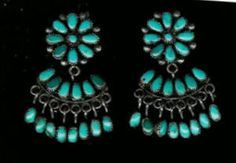 native american cluster earrings | 115g LARGE OLD VINTAGE TURQUOISE CLUSTER CUFF BRACELET MUST SEE PICS