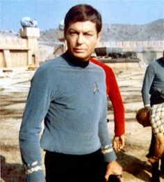 "DeForest Kelley on the set of Star Trek episode ""Arena""                                                                                                                                                                                 More"