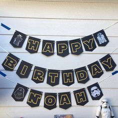Star Wars Happy Birthday Sign