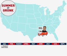 Dynamic Map Summer Of Gronk