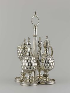 Dutch Silver Cruet by Anthonie Grill, 1642