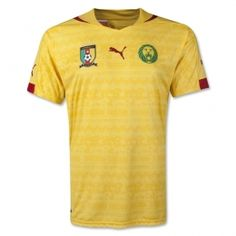 2014 World Cup Cameroon Away Yellow Soccer Jersey Shirt
