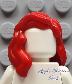 LEGO BROWN MINIFIGURE HAIR Reddish Brown//Lady//Girl//Long//Wavy//Center Part
