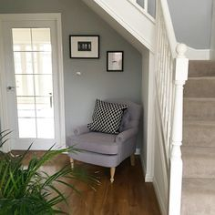 Chic Shadow by Dulux paint and chair by Homesense