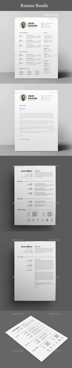 Medical Resume Template Word, Minimalist Resume with Cover Letter - medical resume template