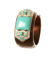 Art Deco Turquoise Cuff
