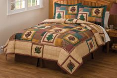 rustic bedding | ... Treasure Quilt & Sham Set|Rustic Cabin Bedding|Rustic Quilt Sets