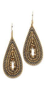 beaded teardrop earrings beadwork