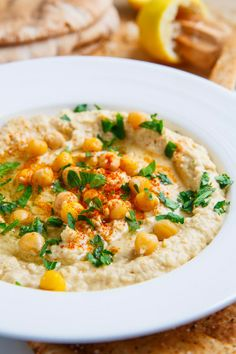 Hummus. This is now my go-to hummus recipe! I did the 'quick and easy' version and it's delicious!