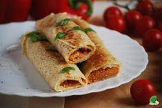 Kuchnia wegAnki: Naleśniki z pastą z suszonych pomidorów i czerwonej soczewicy