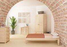 En madera maciza pulida te presentamos este sólido armario de gran capacidad. Sólo de madera certificada PEFC.