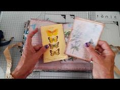 butterflies in blue, two soft cover journals - YouTube
