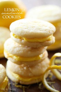 Lemon Sandwich Cookies... soft chewy cookies filled with a delicious lemon buttercream! The perfect amount of lemon for a refreshing bite each and every time!