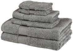 Gray Bath Towels Cotton fr Spa Campping Swimming Pool Towel Set of 6 by Pinzon #Pinzon
