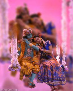 It cant look better on anyone else dear! Coz it is not just my gift but my unconditional love Radhe. Radha Krishna Songs, Radha Krishna Holi, Krishna Leela, Cute Krishna, Lord Krishna Images, Radha Krishna Pictures, Krishna Photos, Krishna Art, Radhe Krishna