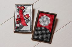 Cross stitch, would be cute for earrings.