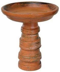 DIY Birdbath from terra pots and saucer