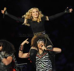 Madonna - A classic creator. With LMFAO at her Superbowl half time show 2012.