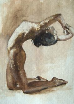 """ARCH Painting, Watercolor on Watercolor Paper, 8.3""""h x 5.9""""w $39"""