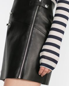 FAUX LEATHER SKIRT WITH ZIPS - View all - Woman - NEW IN | ZARA Georgia