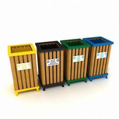 Resmi Büyüt Trash Containers, Recycling Containers, Recycling Bins, Bin Store Garden, Adirondack Chair Plans, Trash Bag, Modular Design, Wood Design, Sheet Metal