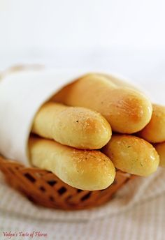 """I am excited to share with all of you what I will call """"Amazing Breadsticks Recipe"""". The bread has a distinctively different taste from breadsticks made with the French Bread Recipe. They are pillow soft and so delicious! Quick Bread, How To Make Bread, Bread Recipes, Cooking Recipes, Sauerkraut Recipes, Homemade Mayonnaise, Taste Of Home, Breadsticks Recipe, Bread Rolls"""