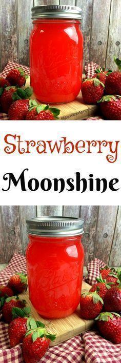 strawberry moonshine que es la dieta paleo que representa quien deb Party Drinks, Cocktail Drinks, Fun Drinks, Cocktail Recipes, Alcoholic Drinks, Bourbon Drinks, Recipes Dinner, Breakfast Recipes, Smoothies
