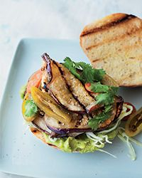 Grilled Eggplant Tortas Recipe don't forget to add pico.  These were surprisingly delicious.  Good for lunch but not satisfying enough for dinner.