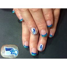 Seattle Seahawks nails || voodoonails's photo on Instagram
