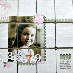Traditional layout using Project Life pockets/cards by Jenn Biederman using Mama Elephant Stamps