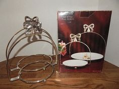 Plate Holders 2 Silver Plated Arched Racks Elegant Godinger Studio Silversmiths : buffet plate holder stand - pezcame.com