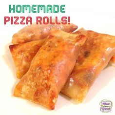 Homemade Pizza Rolls - gonna see if I can get Grace to eat some veggies!