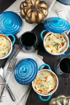 Cheesy Herb Individual Potato Gratin is a fun twist on the classic side dish, perfectly portioned for everyone at your holiday dinner table. Dutch Oven Recipes, Cooking Recipes, Healthy Recipes, Dinner Party Menu, Dinner Table, Casserole Dishes, Casserole Recipes, Mini Cocotte Recipe, Cocotte Le Creuset