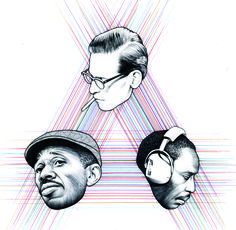 "Epilogue (Bill Evans / Sam Jones / Philly Joe Jones)12"" x 12""Archival Ink on Archival paper2012signed and dated"