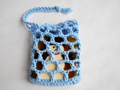 Zero waste crocheted cotton soap saver soap bag with drawstring from recycled cotton yarn reusable soap holder BFF and Secret Santa gift Bff, Soap Holder, Secret Santa Gifts, Crochet Hair Styles, Zero Waste, Handmade Christmas, Crochet Top, Logo Design, Garden Styles