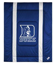 ATHLEZ - Duke Blue Devils Sidelines Comforter Full/Queen