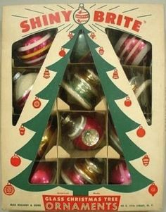 Vintage Christmas Ornaments - I think my grandmother had some like these.
