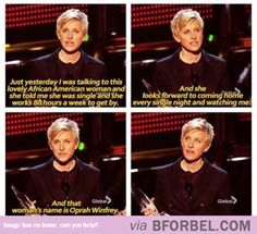 Only Ellen Can Say This About Oprah And Get Away With It!