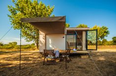 Designer Hristina Hristova has created a tiny vacation house on wheels to avoid the crowds and prices of beach resorts.