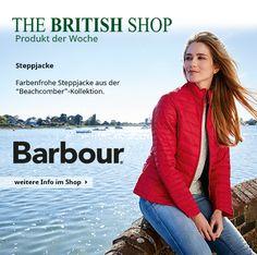 Unser Lieblingsprodukt der Woche ist diese farbenfrohe Steppjacke von Barbour.