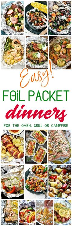 Easy Tin Foil Packets Dinners Recipes - Easy meal prep and easy, quick clean up! So many delicious chicken, beef, salmon, pork, shrimp and chicken tin foil packet dinners you and your family can enjoy making in the oven all year long, throwing on the backyard grill or tossing in the campfire coals this summer! Dreaming in DIY #tinfoildinners #tinfoilsuppers #tinfoilmeals #tinfoildinnerrecipes #foilpacketmeals #foilpacketrecipes #healthyrecipes #mealprep #easylunches #easydinners #easysuppers…