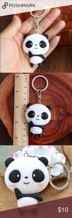 $6 bundled! 👣 CUTE 🐼 Panda Keychains ♥️Silicone Panda Keychains for your keys, handbags, purses, coin bags, cosmetic bags, etc, for every day use! 🌸 Accessories Key & Card Holders
