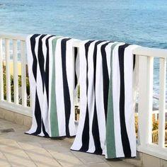 Laguna Beach Textile Company Plush Cabana Beach Towel Color: Old Glory Pool Towels, Bath Towels, Home Styles Exterior, Large Beach Towels, Textile Company, Decorative Towels, Laguna Beach, Cabana, Washing Clothes