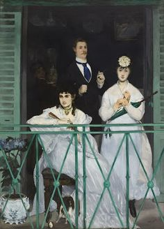 When Manet painted this piece, scenes of bourgeois life were in vogue. Yet  The Balcony went against the conventions of the day. All the subjects were  close...