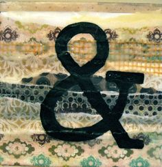 Shabby Chic Ampersand Painting by whitneypanetta on Etsy, $15.00